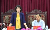 Chủ tịch Quốc hội Nguyễn Thị Kim Ngân làm việc tại tỉnh Bắc Kạn