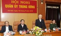 Tổng Bí thư Nguyễn Phú Trọng phát biểu chỉ đạo Hội nghị Quân ủy Trung ương