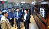 Tổng Giám đốc Đài TNVN Nguyễn Thế Kỷ thăm, chúc Tết cán bộ, phóng viên các đơn vị
