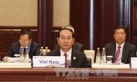 """Chủ tịch nước Trần Đại Quang tham dự Diễn đàn cấp cao hợp tác quốc tế """"Vành đai và Con đường"""""""