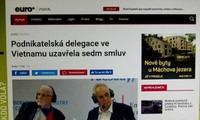 Báo chí Czech đưa tin về chuyến thăm của Tổng thống Milos Zeman tại Việt Nam