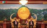 Đoàn đại biểu Trung ương Hội hữu nghị Việt Nam -Lào tiếp kiến lãnh đạo Lào