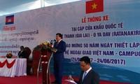 Thông xe tuyến đường nối cặp cửa khẩu Quốc tế Việt Nam- Campuchia