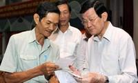 Staatspräsident trifft Wähler in Ho Chi Minh Stadt