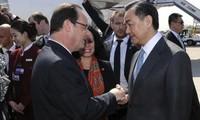 Frankreichs Präsident François Hollande zu Gast in China