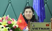 Vize-Parlamentspräsidentin Tong Thi Phong leitet Sitzung der IPU-Abteilung