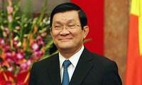 Staatspräsident Truong Tan Sang empfängt Veteranen der Division 356