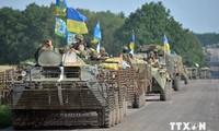 Ukraine verkleinert Gebiete für die Offensive gegen Terroristen