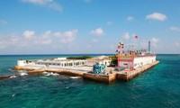 Internationale Presse berichtet  die Ambition Chinas durch den Bau künstlicher Inseln in Truong Sa