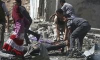Syrische Armee greift Rebellenhochburg aus der Luft an