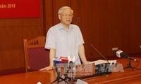 KPV-Generalsekretär Nguyen Phu Trong leitet die Sitzung über Korruptionsbekämpfung
