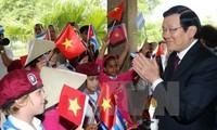 Staatspräsident Truong Tan Sang beendet seinen Besuch in Kuba