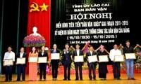 Staatspräsident Truong Tan Sang trifft die vorbildlichen Delegationen für Volksaufklärung