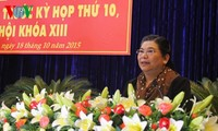 Vize-Parlamentspräsidentin Tong Thi Phong trifft Wähler in der Provinz Dak Lak