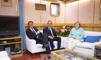 Regierungschefs aus Deutschland, Frankreich und Italien beraten über Zukunft der EU nach dem Brexit