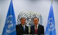Ständiger Vertreter des Sekretariats der KP Vietnam Dinh The Huynh trifft UN-Generalsekretär
