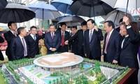 """Der Vorsitzende des chinesischen Volkskongresses besucht das Bauprojekt  """"Der Freundschaftspalast"""""""