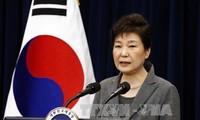 Präsidentin Park Geun-hye schickt Stellungnahme an Verfassungsgericht