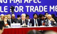 Die Minister treffen sich auf der Sitzung zur Förderung des TPP-Abkommens
