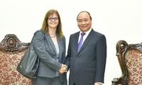 Premierminister Nguyen Xuan Phuc empfängt die israelische Botschafterin