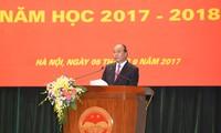 Die Zeremonie zum Schuljahresbeginn in der nationalen Politikakademie Ho Chi Minh