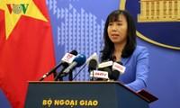 Die Monatpressekonferenz des Außenministeriums