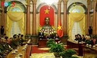 Staatspräsident Tran Dai Quang empfängt die laotische Delegation