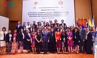 Mendorong kerjasama mendekati informasi dan sistem membela komunitas Anti Perdagangan Manusia