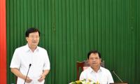 Trinh Dinh Dung se rend à Quang Ngai