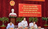 Le vice-Premier ministre Trinh Dinh Dung à Binh Thuan