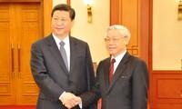 กระชับความสัมพันธ์หุ้นส่วนยุทธศาสตร์ในทุกด้านระหว่างเวียดนามกับจีน