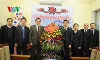 ผู้บริหารแนวร่วมปิตุภูมิเวียดนามอวยพรสมาคมคริสต์ศาสนานิกายโปรเตสแต๊นต์ภาคเหนือในโอกาสเทศกาลคริสต์มาส