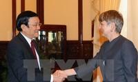 ประธานประเทศเจืองเติ๊นซางให้การต้อนรับเอกอัครราชทูตที่เข้าอำลาในโอกาสสิ้นสุดหน้าที่ตามวาระ
