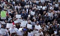 ชมรมชาวมุสลิมในอิตาลีทำการชุมนุมเพื่อต่อต้านการก่อการร้าย