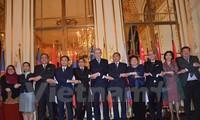 พิธีฉลองการจัดตั้งประชาคมเศรษฐกิจอาเซียน หรือ AEC ในกรุงปารีส
