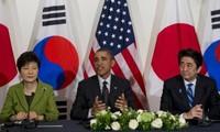 ผู้นำสหรัฐ ญี่ปุ่นและสาธารณรัฐเกาหลีหารือเกี่ยวกับปัญหาของเปียงยาง