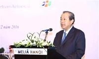รองนายกรัฐมนตรีเจืองหว่าบิ่งเป็นประธานการประชุมเกี่ยวกับความปลอดภัยในการจราจรเวียดนามปี 2016