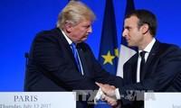 ประธานาธิบดีสหรัฐยืนยันถึงความสัมพันธ์ที่ยั่งยืนกับฝรั่งเศส