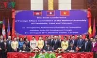 คณะกรรมาธิการวิเทศสัมพันธ์แห่งรัฐสภากัมพูชา ลาวและเวียดนามให้คำมั่นที่จะกระชับความร่วมมือ