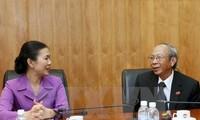 ผู้บริหารแนวร่วมปิตุภูมิเวียดนามให้การต้อนรับคณะผู้แทนสภาศาสนาบาไฮเวียดนาม