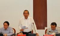 รองนายกรัฐมนตรีเจืองหว่าบิ่งประชุมกับผู้บริหารพรรคสาขานครโฮจิมินห์เกี่ยวกับการปฏิรูปด้านตุลาการ