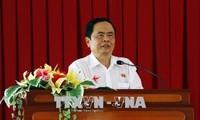 ประธานแนวร่วมปิตุภูมิเวียดนามอวยพรสถานีวิทยุเวียดนามในโอกาสรำลึกวันหนังสือพิมพ์ปฏิวัติเวียดนาม