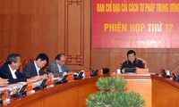 President Truong Tan Sang chairs judicial reform session