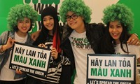 Youngsters in Hanoi engaging in green world activities