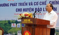 Favorable policies for Ly Son's development