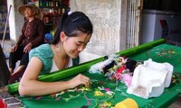 Traditional embroidery craft in Van Lam village, Ninh Binh province
