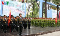 Rehearsal for the celebration of the 40th southern liberation, national reunification