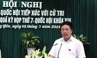 Deputy PM Pham Binh Minh meets voters in Ha Long city, Quang Ninh province