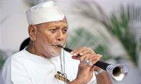 Winners of India's  Bharat Ratna awards: Ustad Bismillah Khan, Pandit Bhimsen Joshi
