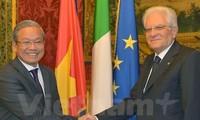 Italian President hopes for closer Vietnam-Italy ties